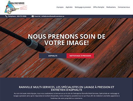 Site de Rainville Multi-Service (Conception de site web) - Medialogue