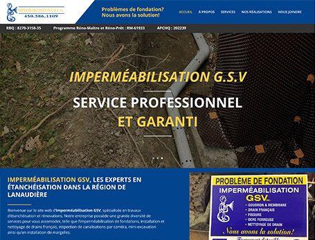 Démo Imperméabilisation GSV (conception de site web) - Medialogue
