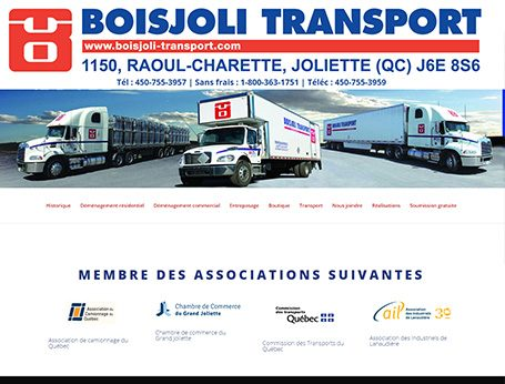 Image de démo Boisjoli Transport (Conception de site web) - Medialogue