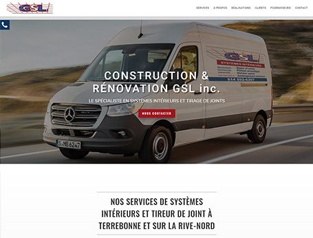 Image de démo Construction et Rénovation GSL (Conception de site web) - Medialogue