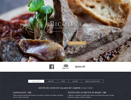 Image de démo Restaurant Picolina (Conception de site web) - Medialogue