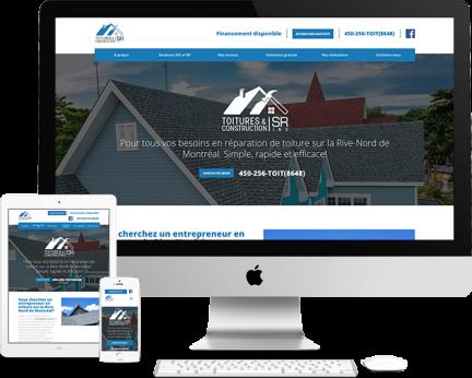 Toitures et Constructions SR (Conception de site web) - Medialogue