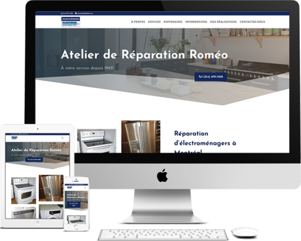 Ateliers Roméo Portfolio (conception de site web)- medialogue