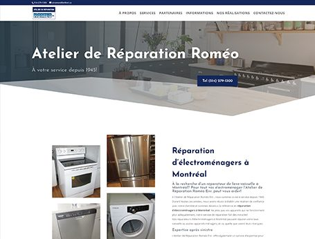 Démo Ateliers Roméo (conception de site web) - Medialogue