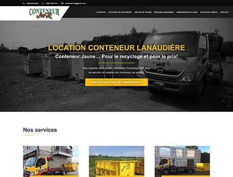 Démo Conteneur MR (conception de site web) - Medialogue