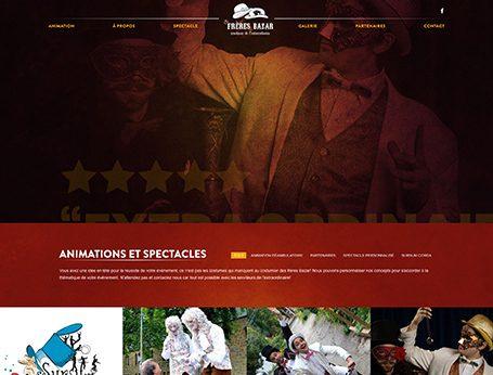Démo Les Frères Bazar (conception de site web) - Medialogue