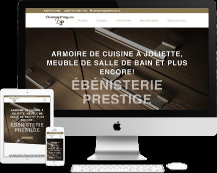 Ébénisterie Prestige - Conception de sites web Ébénisterie Prestige (Medialogue)