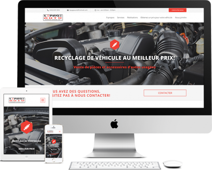 Lepage Auto Portfolio (conception de site web)- medialogue