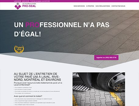 Démo Pavé Pro-Seal (conception de site web) - Medialogue