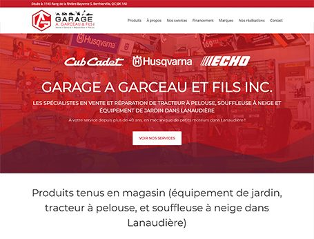 Garage Garceau Démo - Medialogue (Conception de site web)