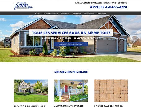 Démo Services gazon plus (conception de site web) - Medialogue