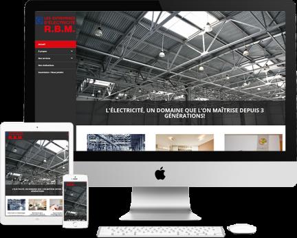 Démo Électricien RBM (conception de site web) Medialogue