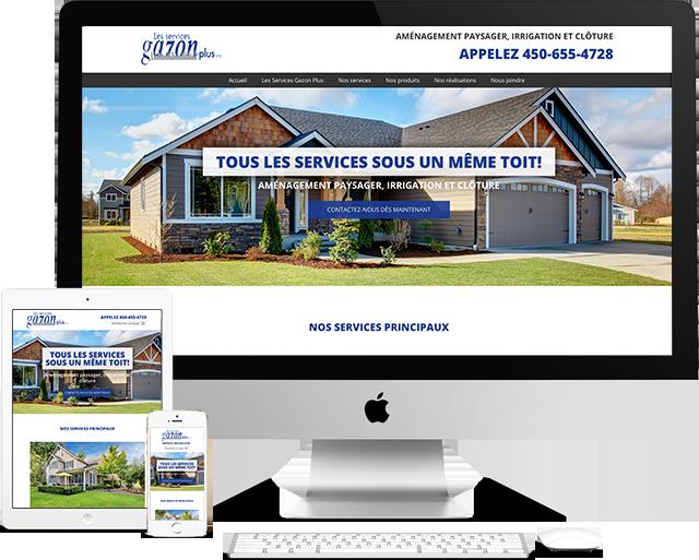 services gazon plus Portfolio (conception de site web)- medialogue