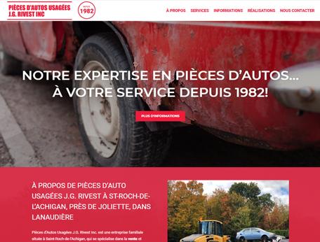 Pièces Autos Usagées J.G. Rivest inc - Medialogue Concepteur de sites web
