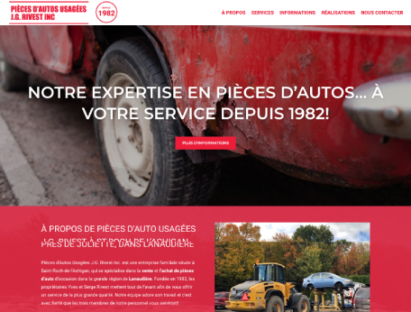 Pièces Auto JG Rivest (Conception de site web) - Medialogue