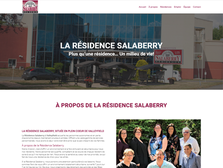 Residence Salaberry - Conception de site web Medialogue