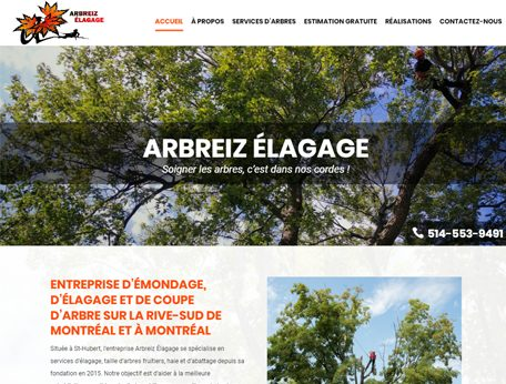 Arbreiz Élagage - Medialogue Conception de Sites Web